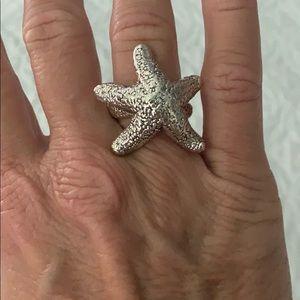 Silver starfish ring!